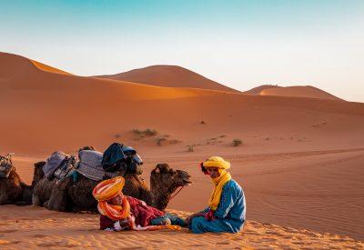 Berber locals resting in the Sahara